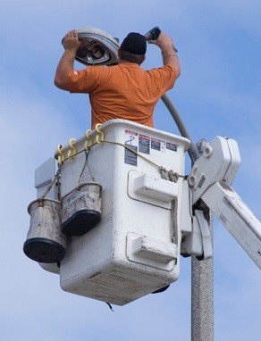 bucket truck lighting installation and repair